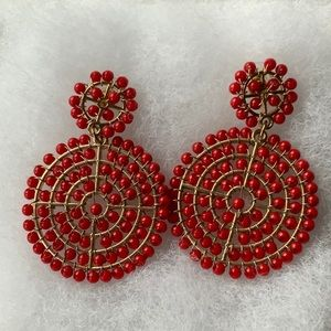 Beaitiful Red and Gold Drop Earring